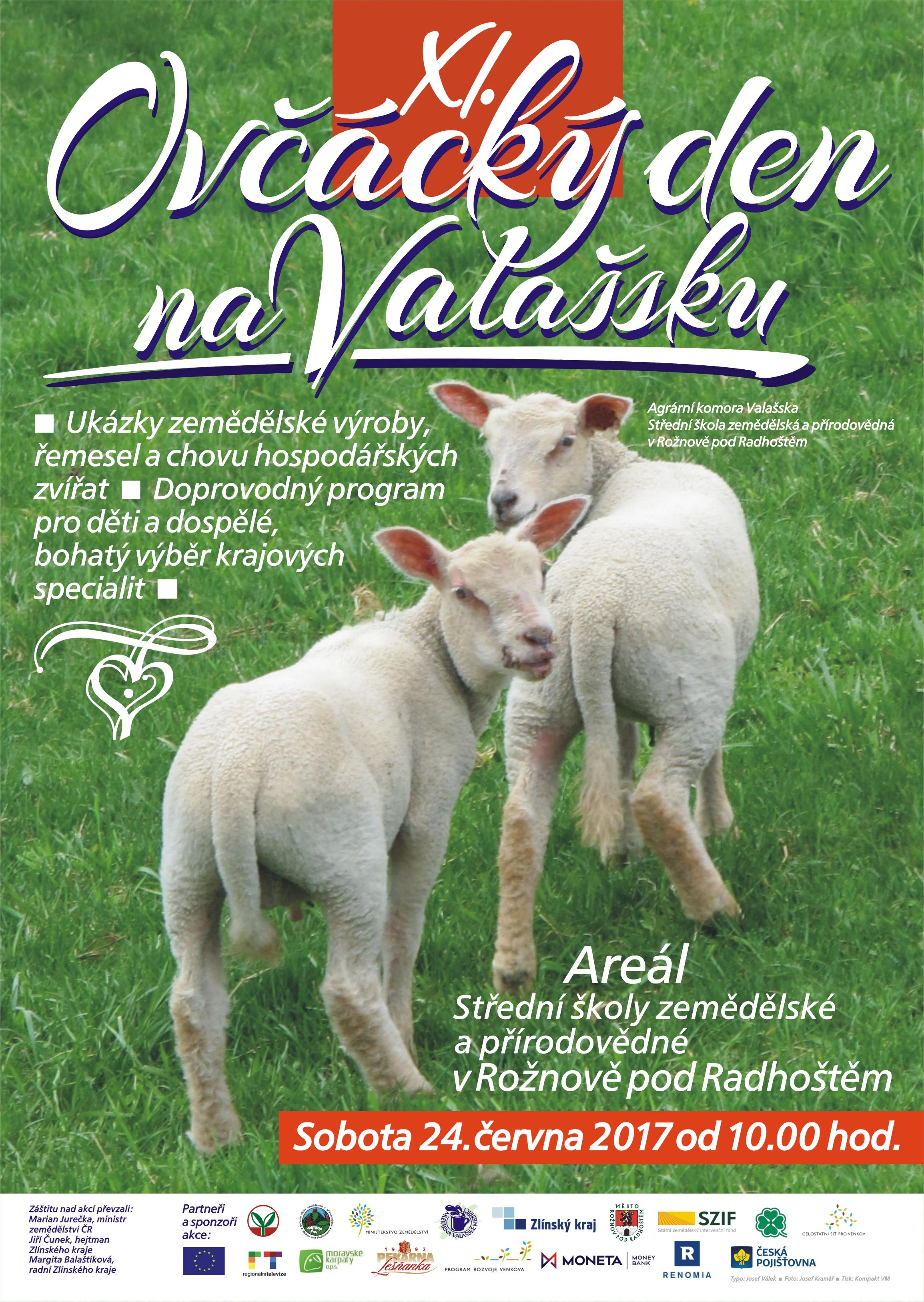 POZVÁNKA NA OVČÁCKÝ DEN NA VALAŠSKU - 24.6.2017