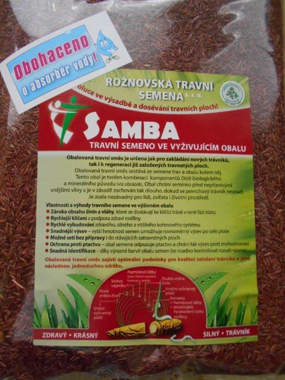 Obalovaná travní směs  SAMBA-nově obohacená o absorbér vody!!!